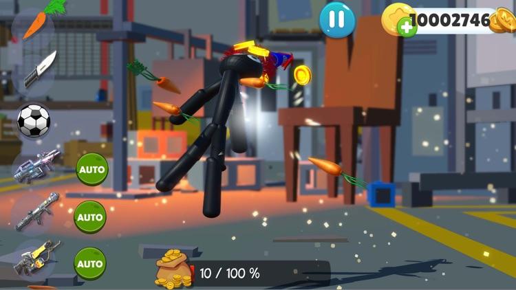 Kick The Stickman Buddy Game screenshot-4