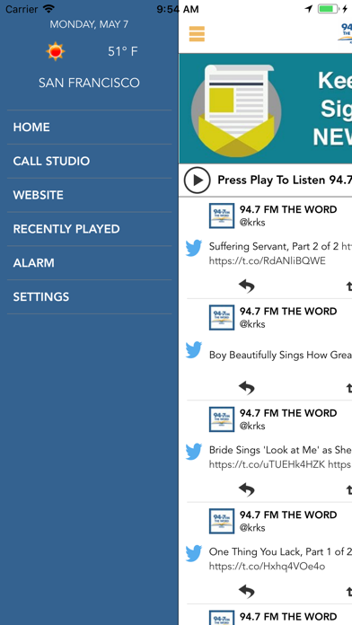 94-7 FM The Word screenshot two