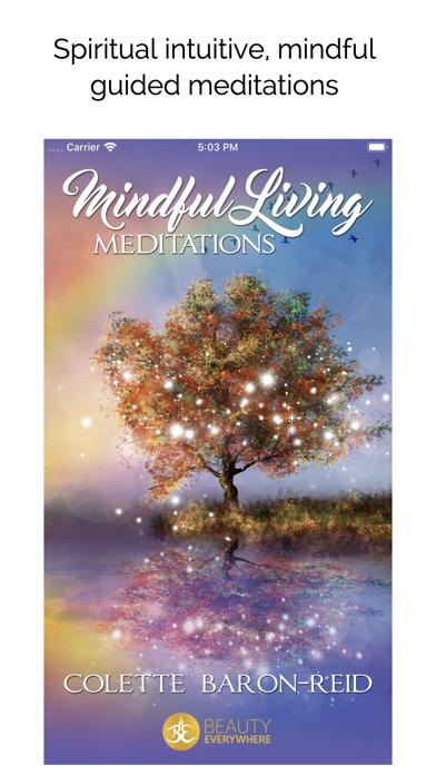 Mindful Living Meditations screenshot one