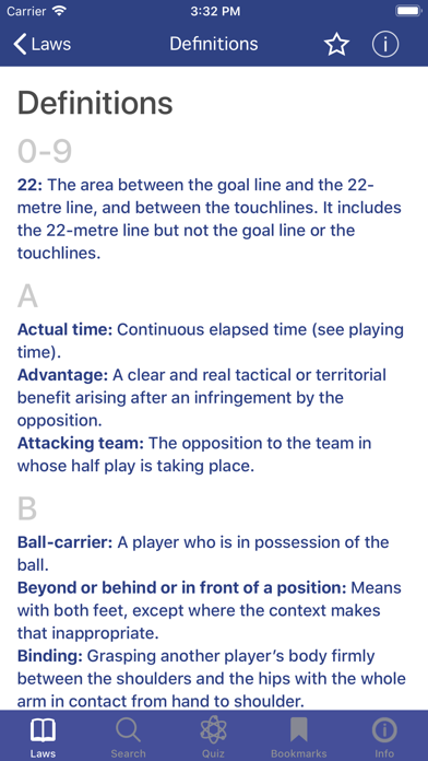 Screenshot for World Rugby Laws of Rugby in United Arab Emirates App Store