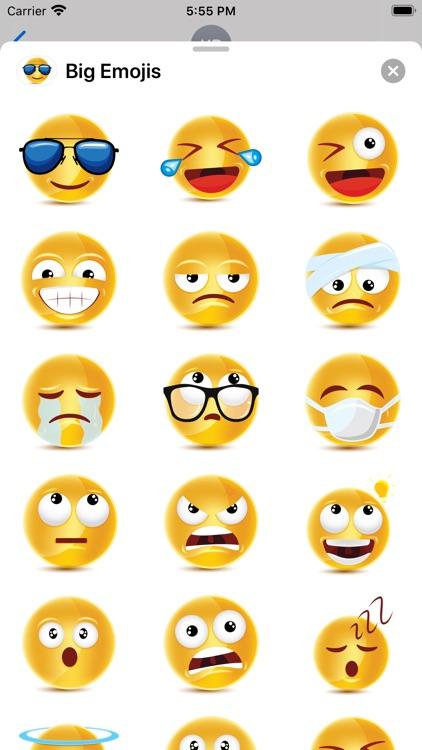 Big Emojis - Stickers screenshot-4