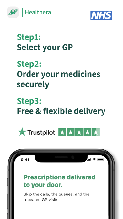 Healthera NHS Prescription App screenshot two