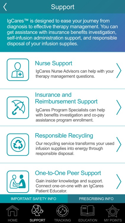IgCares – Infusion Support screenshot-8