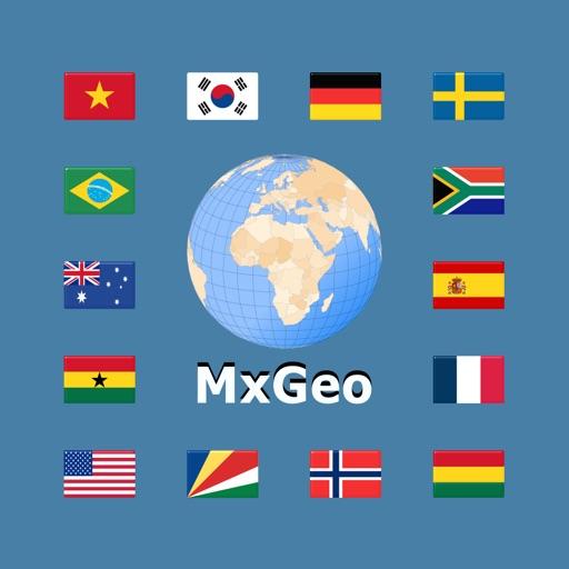 World atlas & world map MxGeo