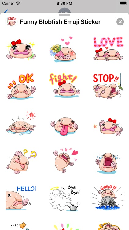 Funny Blobfish Emoji Sticker
