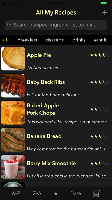 All My Recipes screenshot one