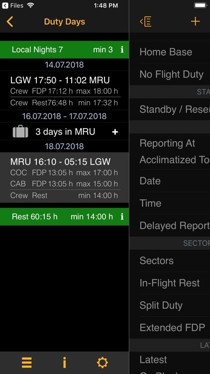 EASA FTL Calc screenshot-3