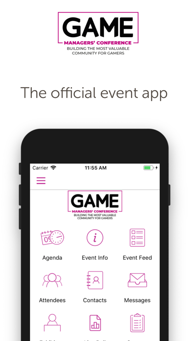 GAME Managers Conference App screenshot one