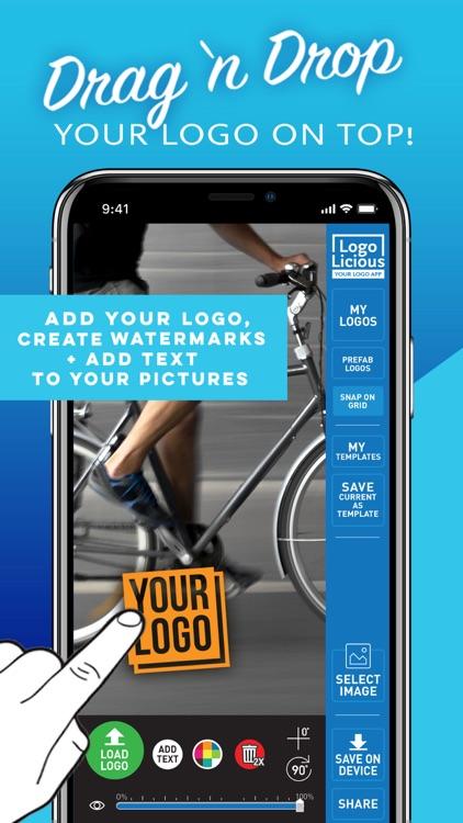 LogoLicious Add Your Logo App