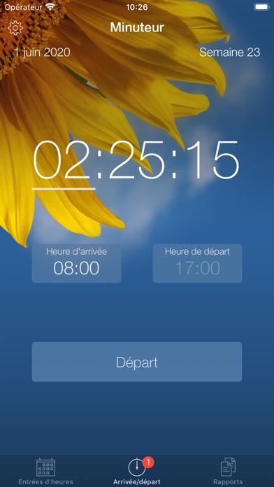 Minuteur - Horaires de travail