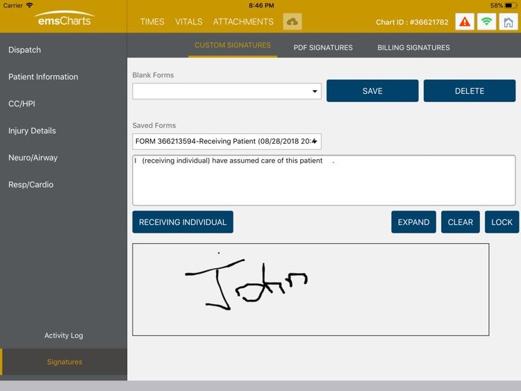 emsCharts Tablet screenshot-4