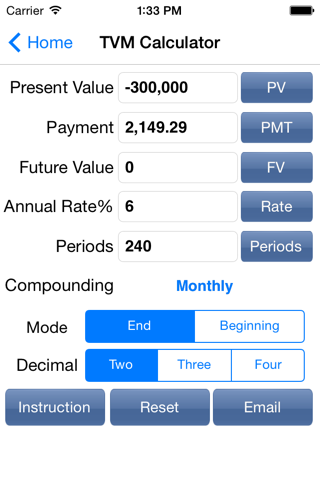 EZ Financial Calculators - náhled