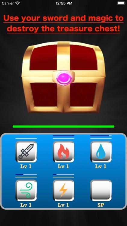 Break the treasure chest!
