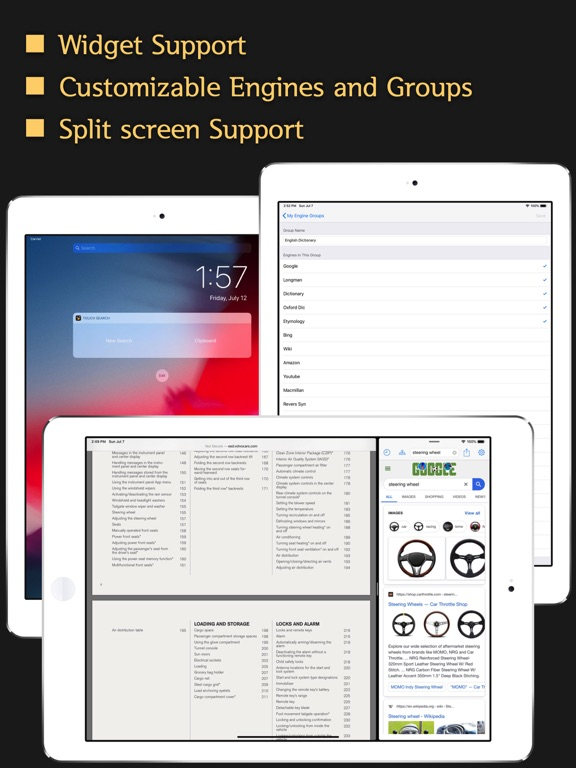 Touch Search + Screenshots