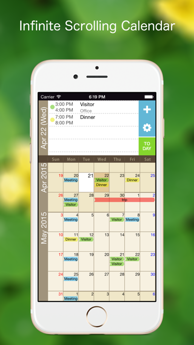 Kurumaki Calendar -month scroll calendar- screenshot