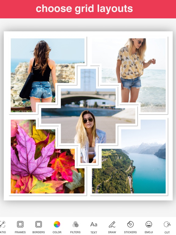 Photo Scrapbook - Collage, Frame, Caption, Edit and Share on Instagram, Facebook and Twitter screenshot