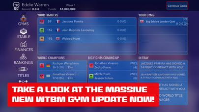 World Title Boxing Manager screenshot one