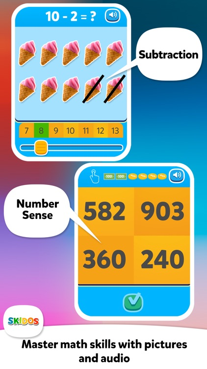 Flower Maths: Cool Kids Games screenshot-4