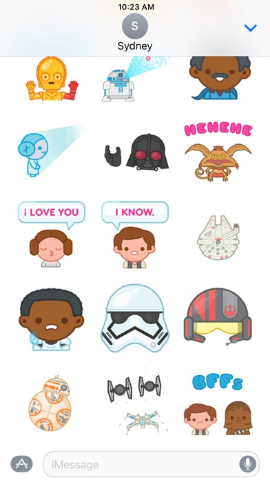 Star Wars Stickers Screenshot