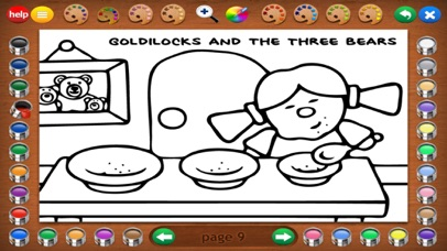 Screenshot for Fairy Tales Coloring Book in United States App Store