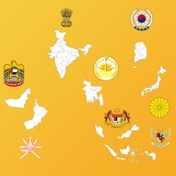 Asian Country State Maps
