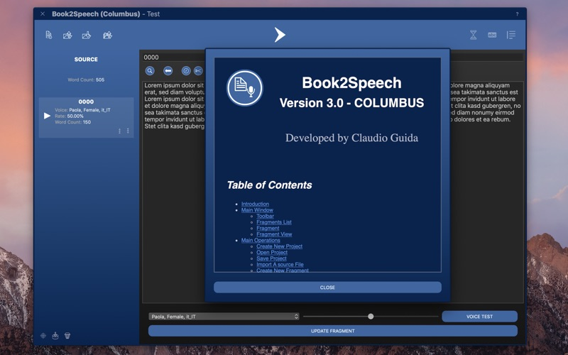 Book2Speech for Mac