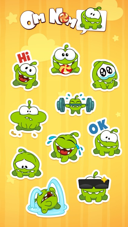 Om Nom Stickers screenshot-2