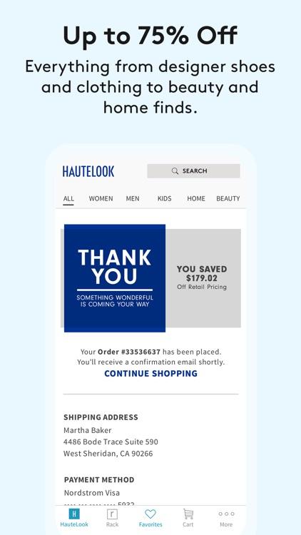 HauteLook | Nordstrom Rack screenshot-5