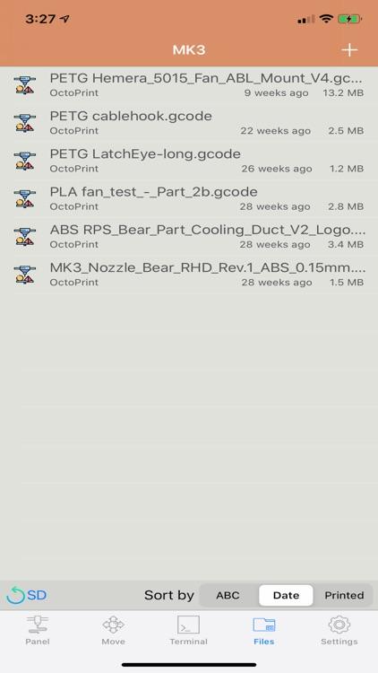 OctoPod for OctoPrint screenshot-5
