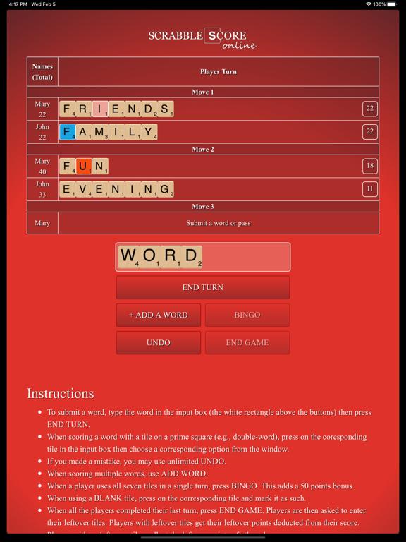 Scrabble Score Calculator screenshot