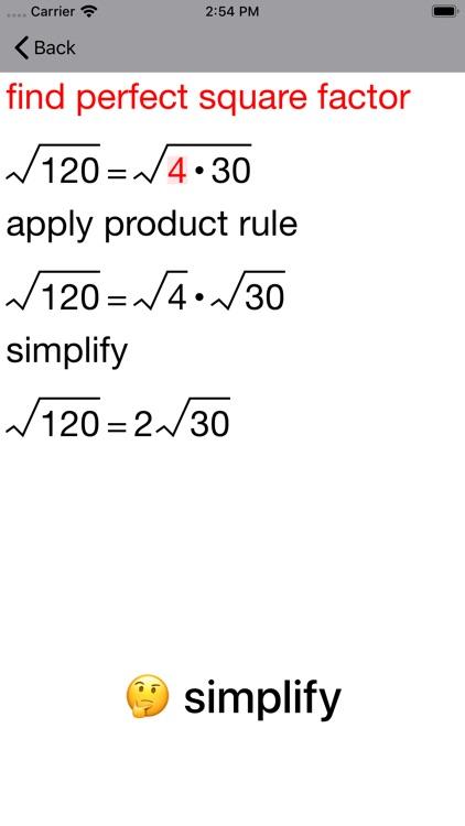 20/20 Radical Simplification