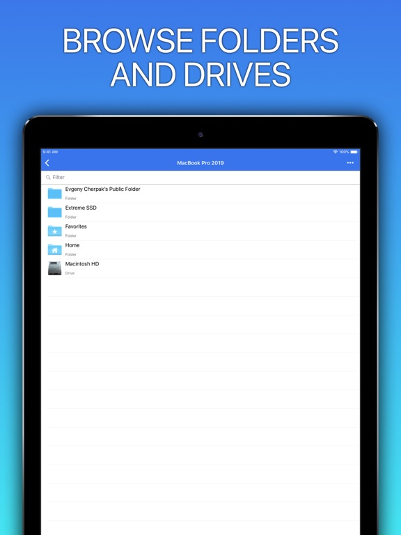 Screenshot #6 pour Remote Drive for Mac - Pro