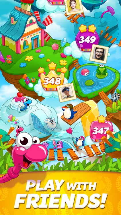 Sugar Worms: Relaxing Match 3! screenshot-3