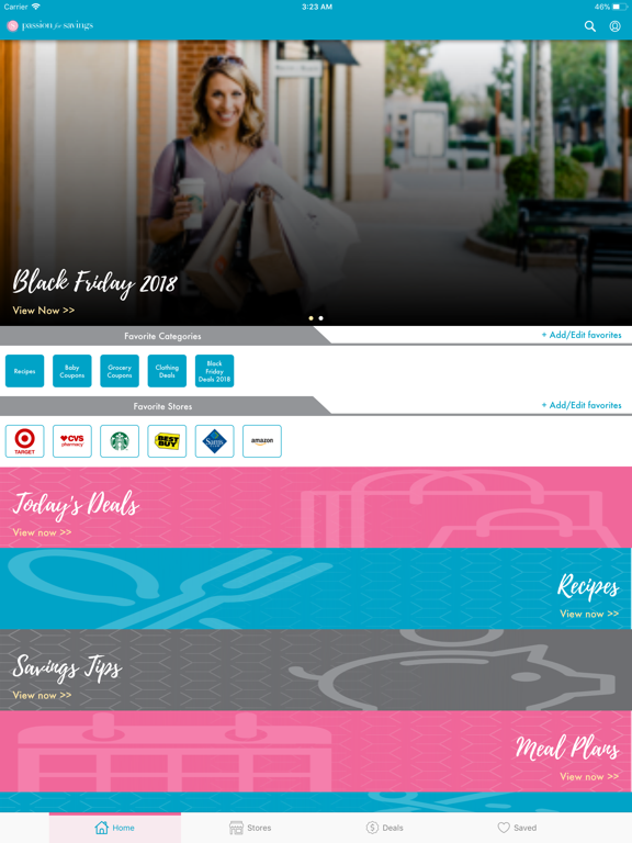 Passion For Savings - The Coupon and Deal Finder screenshot