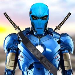 Iron Super Hero Ninja Battle