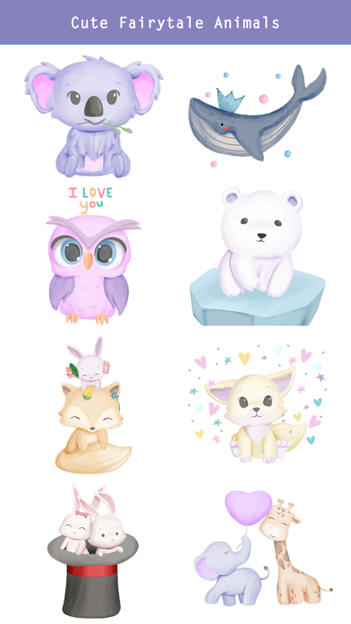 Fairytale Baby Animal Stickers screenshot 4