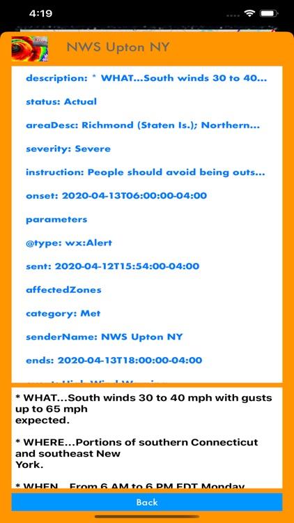 Instant NOAA Alerts 3D Elite screenshot-3