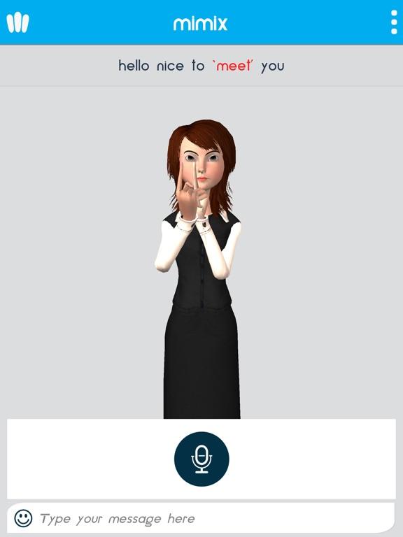 Mimix3D Sign Language Translator screenshot