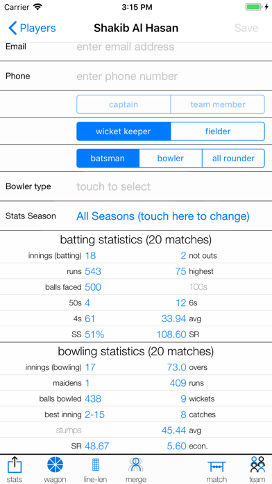 Screenshot for nxCricket in South Africa App Store