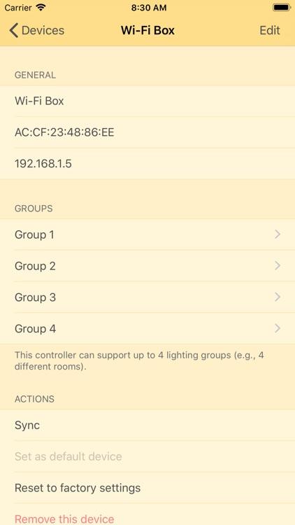 Lampki smart bulbs controller screenshot-3