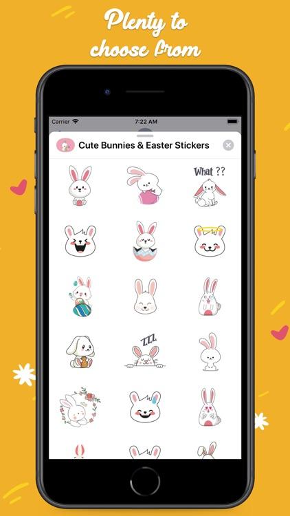 Cute Bunnies & Easter Stickers screenshot-3