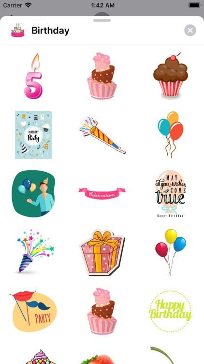 200+ Happy Birthday Stickers