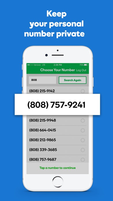 SmartLine Second Phone Number Screenshot