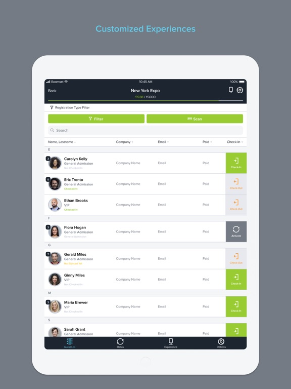 Event Guest List & Easy Check-in Manager screenshot