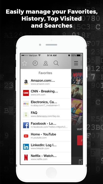 Datacappy Ad Blocking Browser screenshot-3