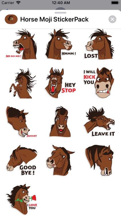 Horse Moji StickerPack screenshot-4