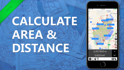 Screenshot #1 pour Area & Distance - Map Measure