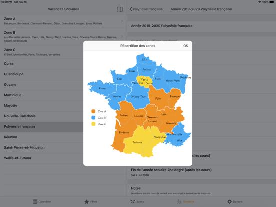 France Agenda iPad captures décran