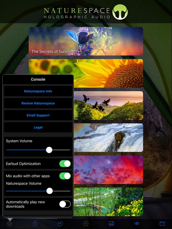 Naturespace: Relax Meditate Escape Sleep with 3D Sound screenshot