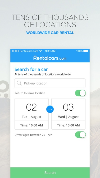 Rentalcars.com Car rental App screenshot-0